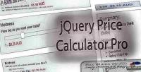 Price jquery calculator pro