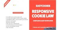 Responsive easycookie cookie notification law alert compliance