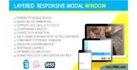 Responsive layered modal window