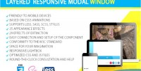 Responsive layered modal window