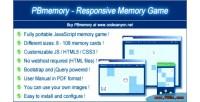 Responsive pbmemory memory game
