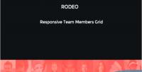 Responsive rodeo team ribbon grid members