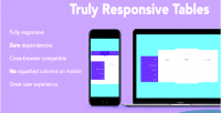 Responsive truly comparison tables