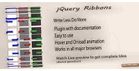 Ribbon jquery plugin