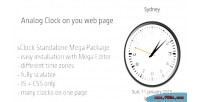 Sclock mega package analog timezones w. clocks
