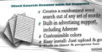 Search word creator support ad with
