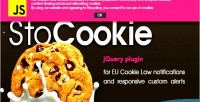 Stocookie jquery plugin cookie law compliance notifications custom and