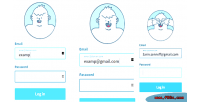 Svg animated avatar login using form gsap css html