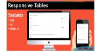 Tables responsive