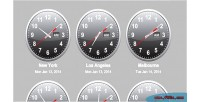 Time jquery clocks world zone