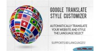 Translate google style customizer