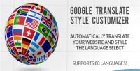 Translate google style customizer