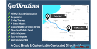 Useful geodirections map directions geolocated