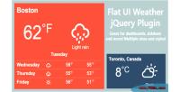 Weather flat jquery plugin