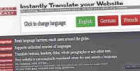 Website instant blog translator