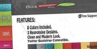 Accordion box menu responsive