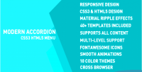 Accordion modern menu