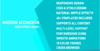 Accordion modern menu