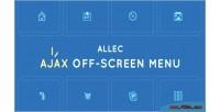 Ajax allec menu screen off