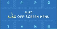 Ajax allec menu screen off