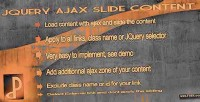 Ajax jquery slide content