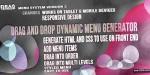 Drag & drop menu sorter & generator