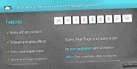 Animated jquery pagination