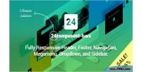 Bars 24component fully responsive footer header navigation & dropdown megamenu