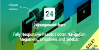Bars 24component fully responsive footer header navigation & dropdown megamenu