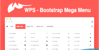 Bootstrap wps mega menu