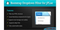 Dropdown bootstrap filter library jplist for