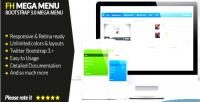 Fh mega menu jquery bootstrap 3 plugin menu mega