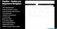 Flexible flexinav navigation responsive and