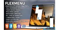 Flexmenu jquery off canvas plugin menu mega
