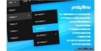 Full prettymenu responsive script & menu customizable