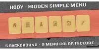 Hidden hody simple menu