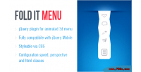 It fold 3d menu