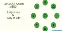 Jquery circular menu