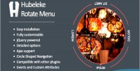 Jquery hubeleke menu rotate circle