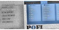 Jquery pofi menu animated responsive