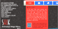 Jquery shik menu mega animated