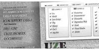 Jquery uze menu animated responsive