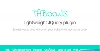 Js taboo lightweight jquery to plugin tabs responsive create