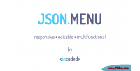 Json incoded menu component