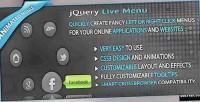 Live jquery menu