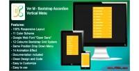 M ver bootstrap menu vertical accordion