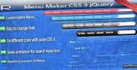 Maker menu css3 jquery