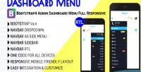 Menu dashboard bootstrap4 dashboard admin responsive full menu