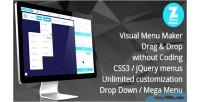 Menu maker drop down menu mega & menu