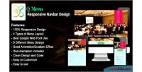 Menu q design navbar responsive
